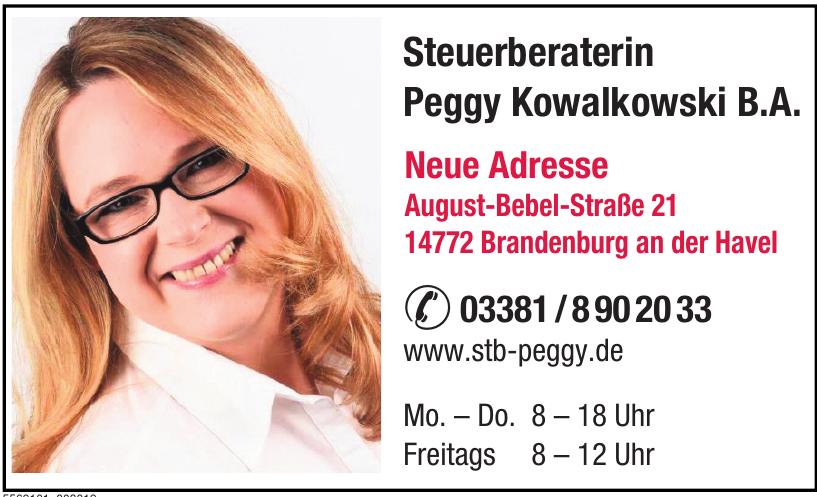 Steuerberaterin Peggy Kowalkowski B.A.