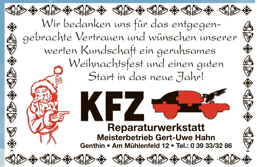 KFZ Reparaturwerkstatt