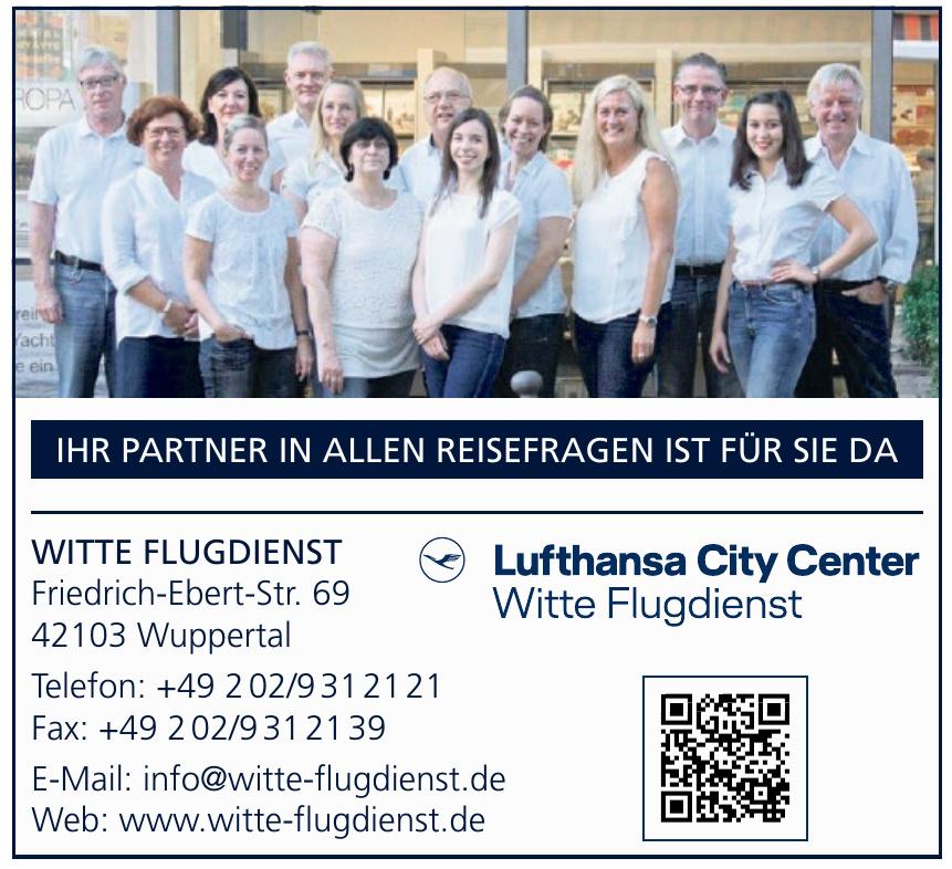 Witte Flugdienst Lufthansa City Center