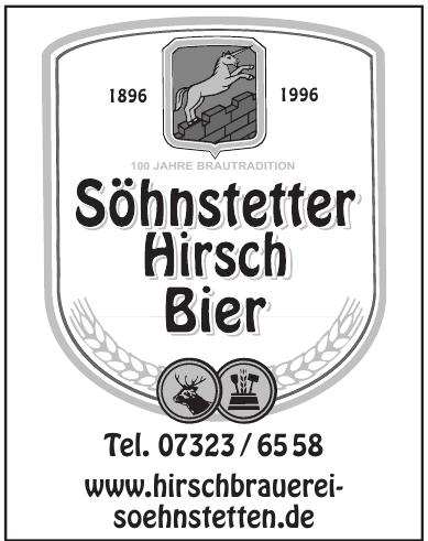 Söhnstetter Hirsch Bier