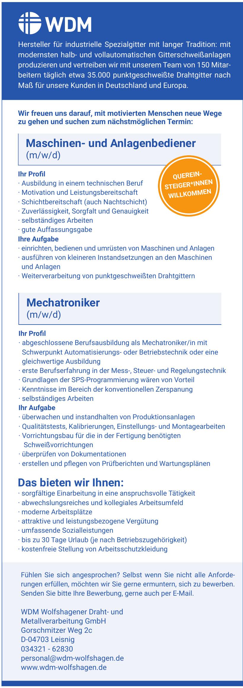 WDM Wolfshagener Draht- und Metallverarbeitung GmbH