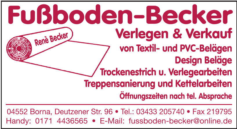 Fußboden-Becker Verlegen & Verkauf