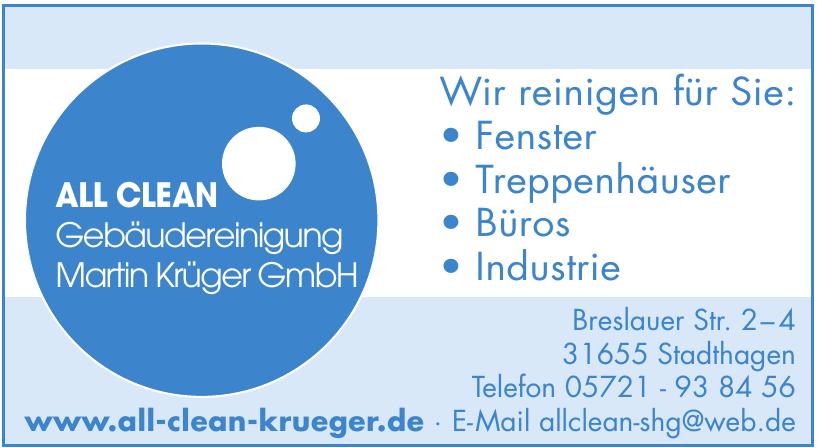 All Clean Gebäudereiningeung Martin Krüger GmbH