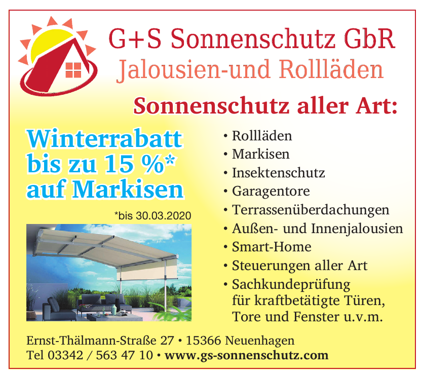 G+S Sonnenschutz GbR