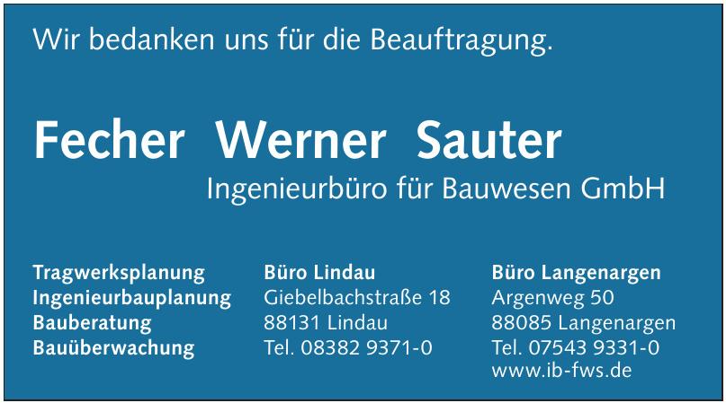 Fecher Werner Sauter Ingenieurbüro für Bauwesen GmbH