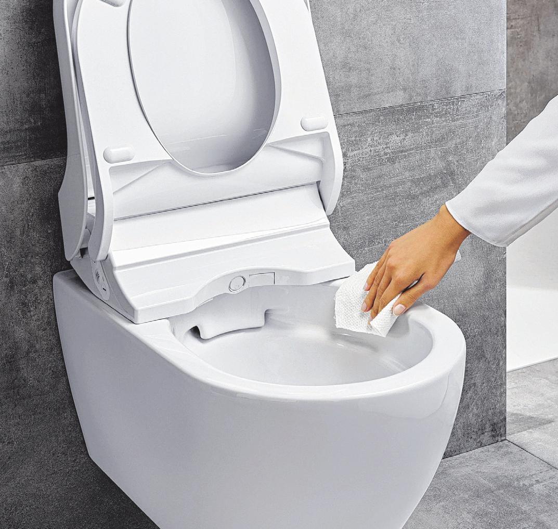 Die nächste Stufe des Badkomforts: WCs mit Dusche für den Po und vielen weiteren Wellnessfunktionen. Dusch-WC-Keramiken ohne Spülrand sehen besser aus und sind leichter hygienisch sauberzuhalten.