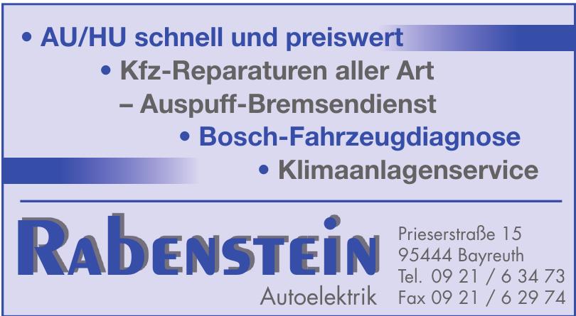 Autoelektrik Rabenstein