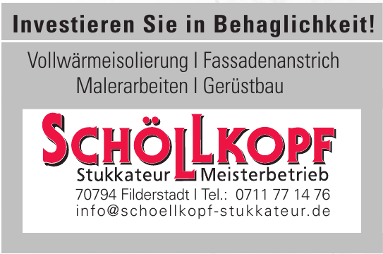 Schöllkopf Stukkateur - Meisterbetrieb