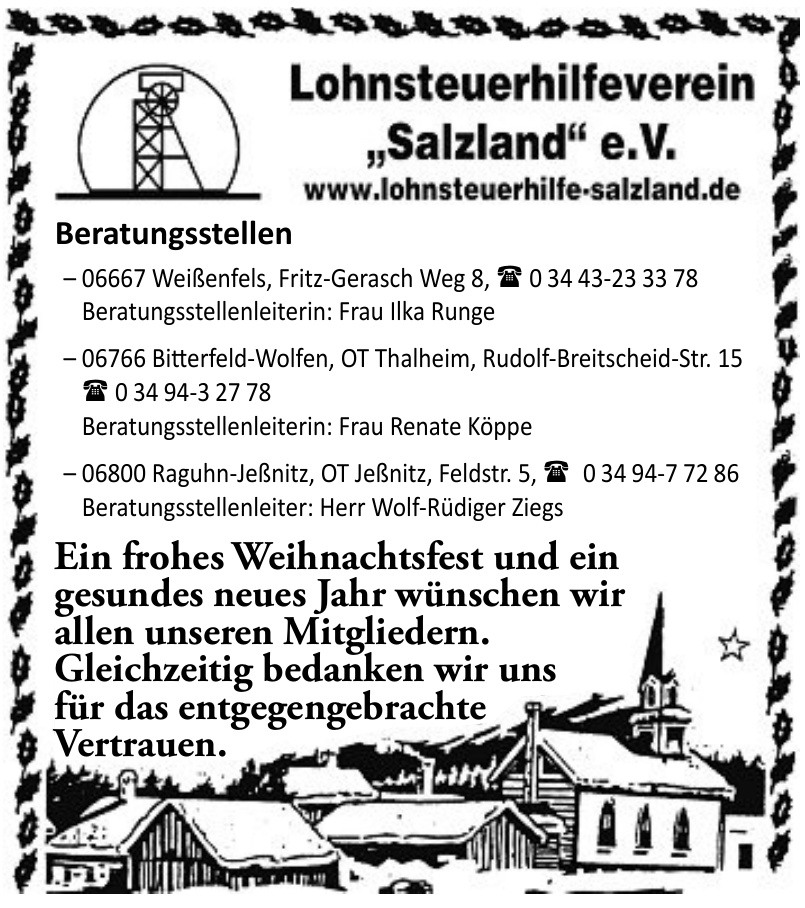 "Lohnsteuerhilfeverein ""Salzland"" e. V."