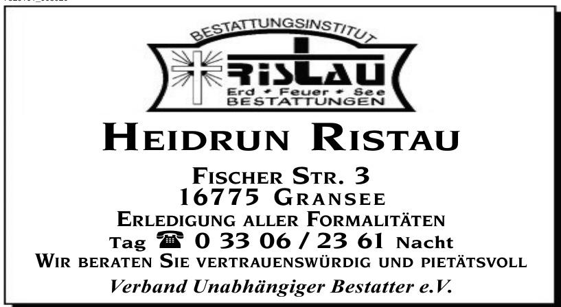Heidrun Ristau Verband unabhängiger Bestatter e.V.