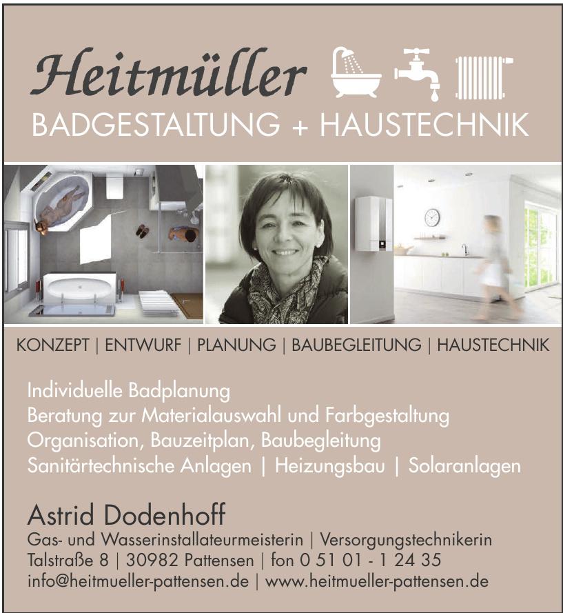 Heitmüller Badgestaltung+Haustechnik - Astrid Dodenhoff Gas- und Wasserinstallateurmeisterin - Versorgungstechnikerin