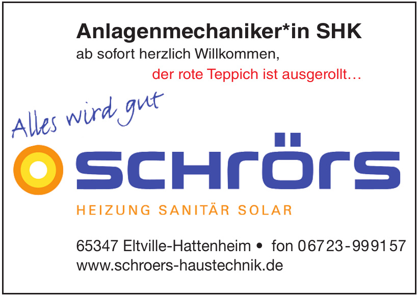 Schrörs - Heizung - Sanitär - Solar