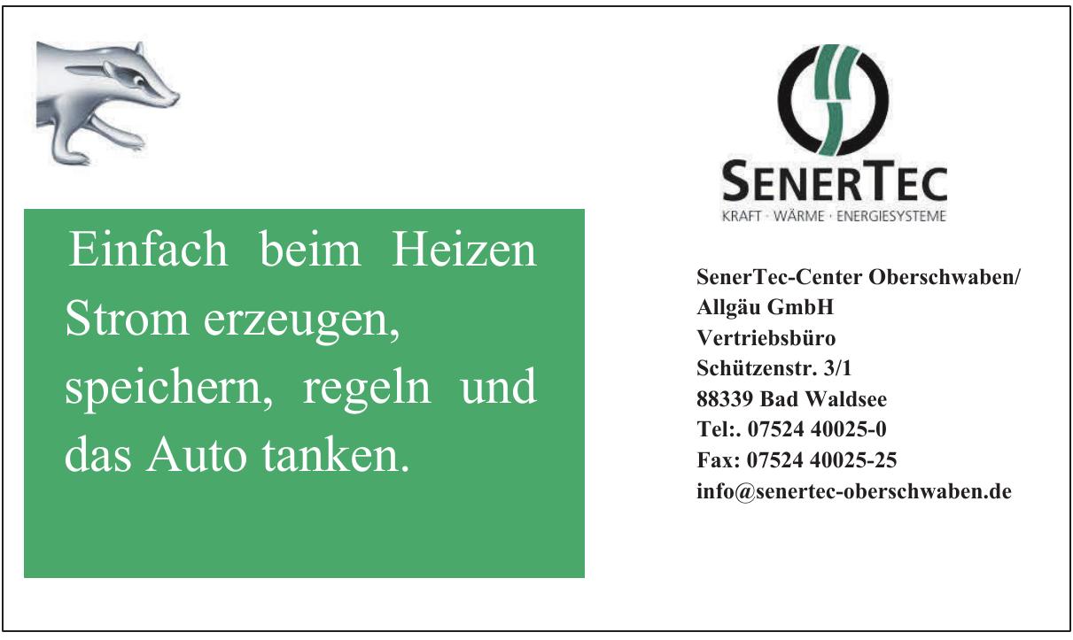 SenerTec-Center Oberschwaben/Allgäu GmbH