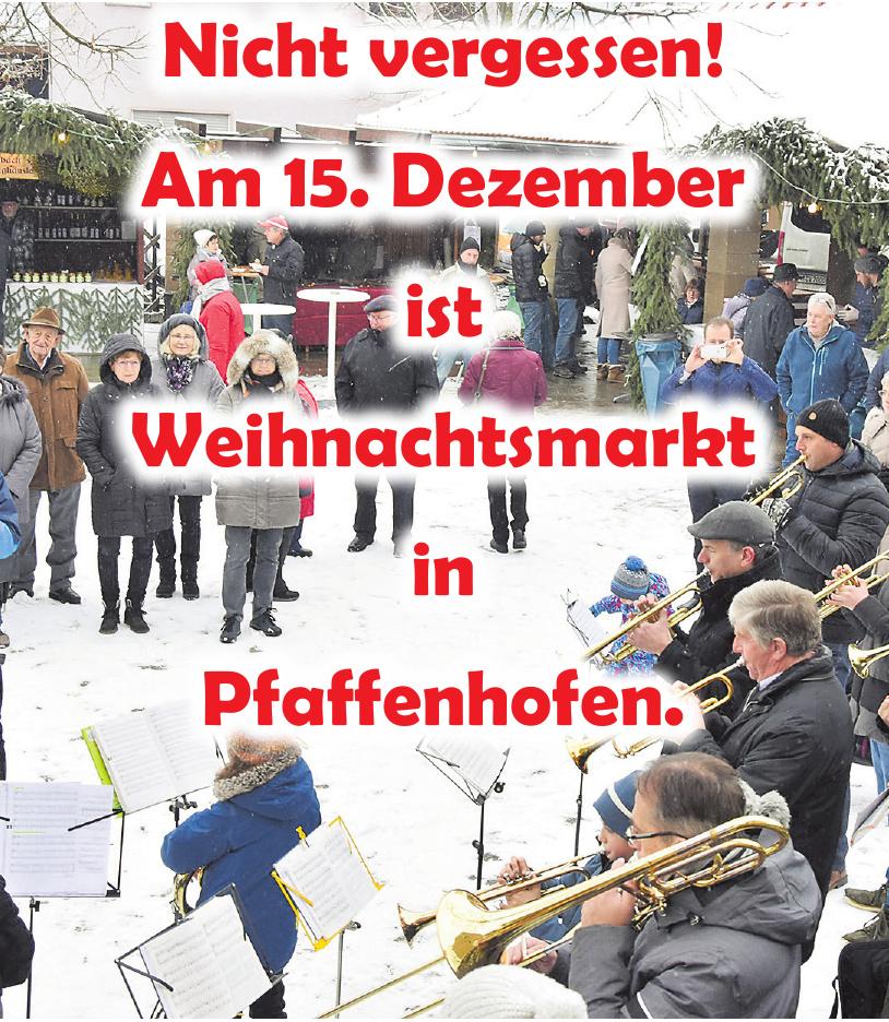 Weihnachtsmarkt in Pfaffenhofen