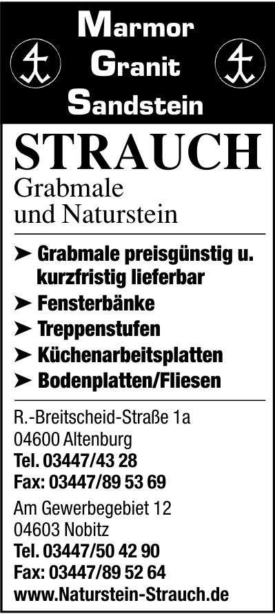 Strauch Grabmale und Naturstein