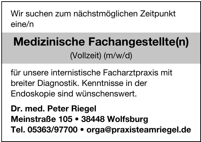 Dr. med. Peter Riegel