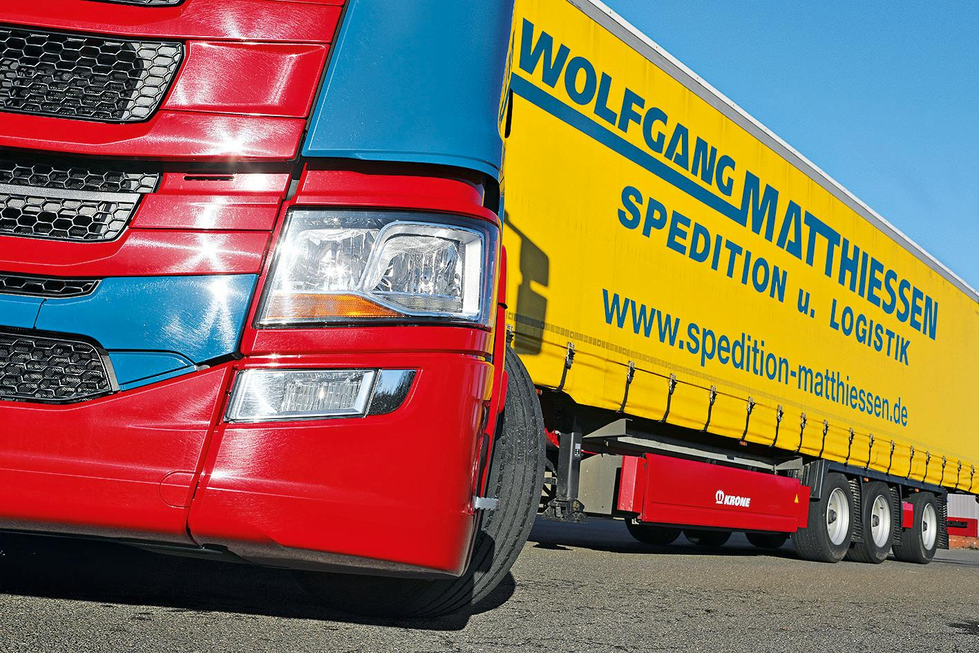 The modern vehicle fleet is characterised by Krone products.