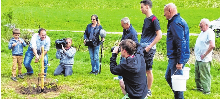 Der Bayerische Rundfunk berichtete bereits über den Kulturgarten des OGV Wülflingen. FOTO: JOSEF ZENKER