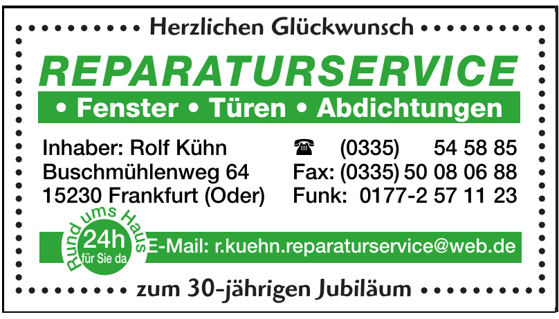 Reparaturservice Rolf Kühn