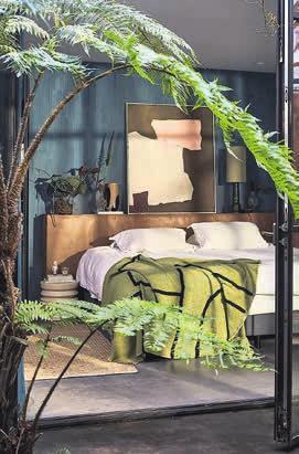 9 Es grünt rund um die sommerliche Schlafinsel, die grüne Decke ist von HK Living. (hkliving.nl)