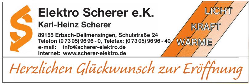 Elektro Scherer e. K.