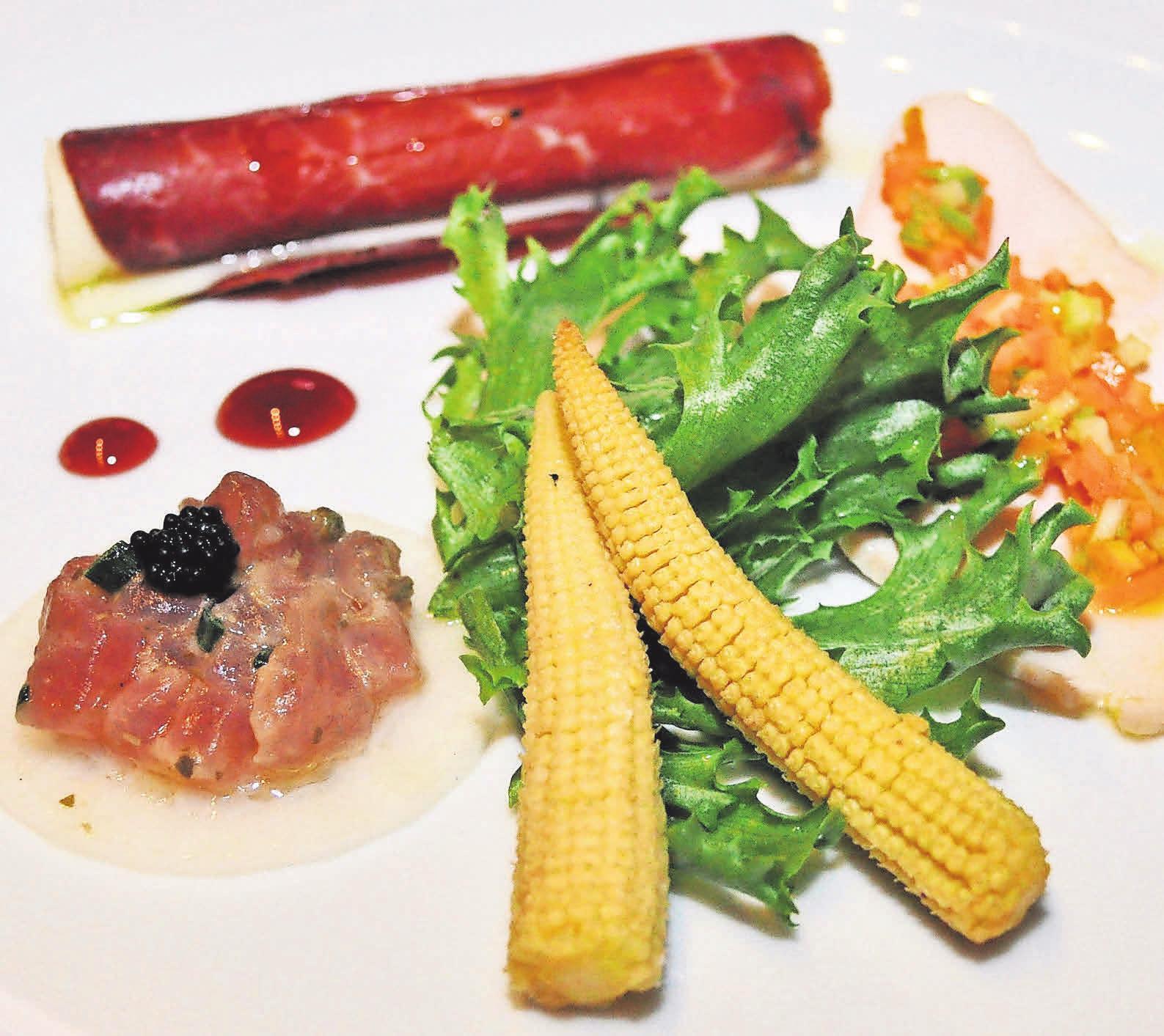 Die Auswahl an Speisen im La Cascina ist groß und von exzellenter Qualität.