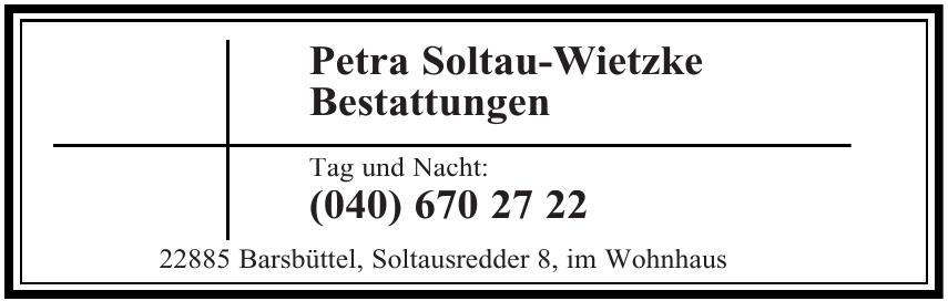 Petra Soltau-Wietzke Bestattungen