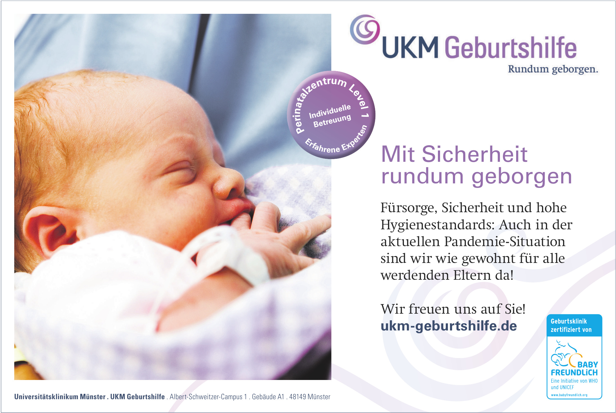 Universitätsklinikum Münster . UKM Geburtshilfe