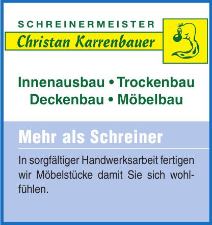 Schreinereimeister Christan Karrenbauer