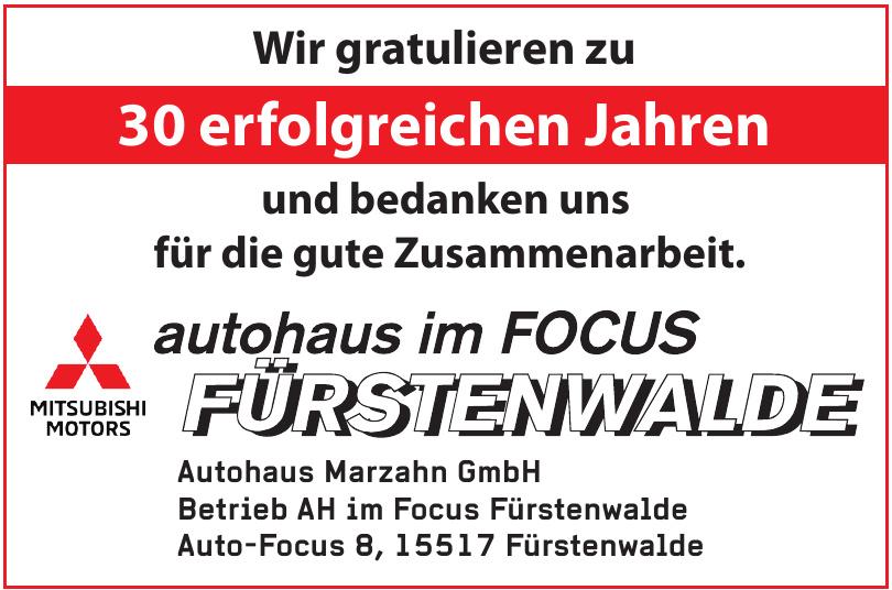 Autohaus Marzahn GmbH - Betrieb AH im Focus Fürstenwalde