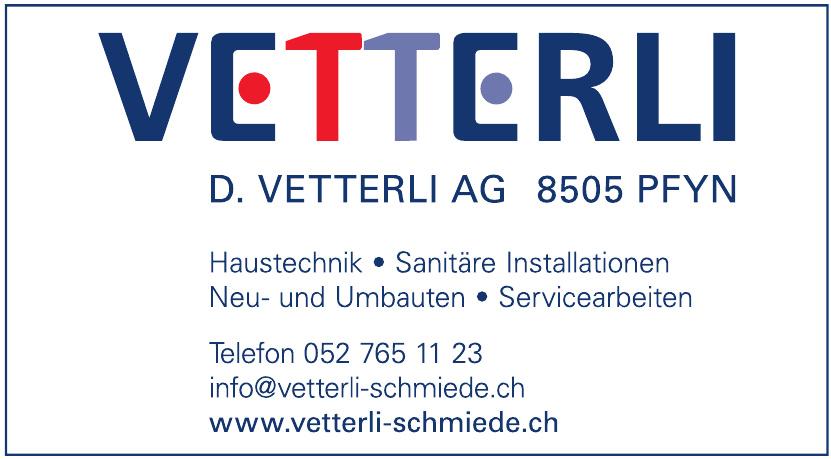 D. Vetterli AG