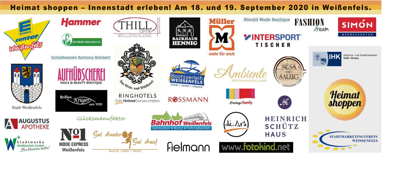 Heimat shoppen – Innenstadt erleben! Am 18. und 19. September 2020 in Weißenfels.