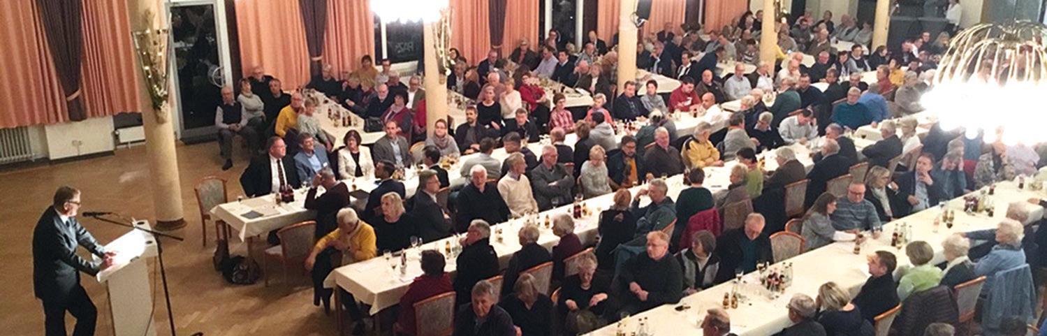 HWG-Vorsitzender Hans-Hinrich Munzel eröffnete die Mitgliederversammlung.