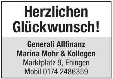 Generali Allfinanz, Marina Mohr & Kollegen