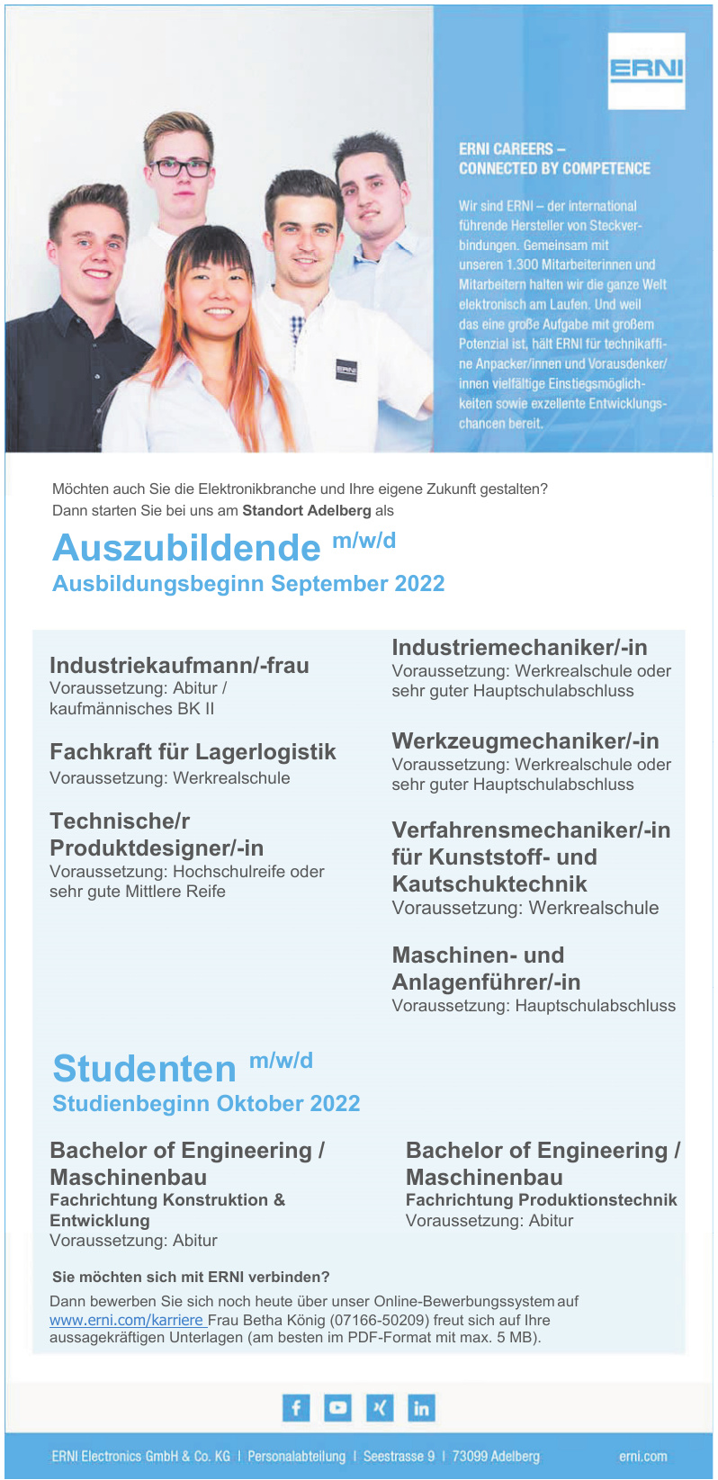 ERNI Elektronics GmbH & Co. KG