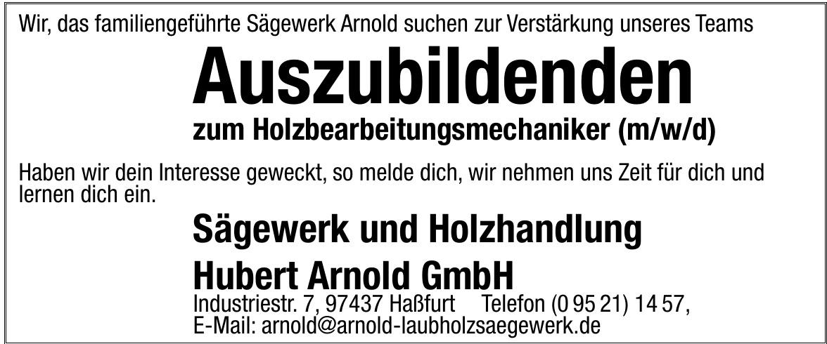 Sägewerk und Holzhandlung Hubert Arnold GmbH