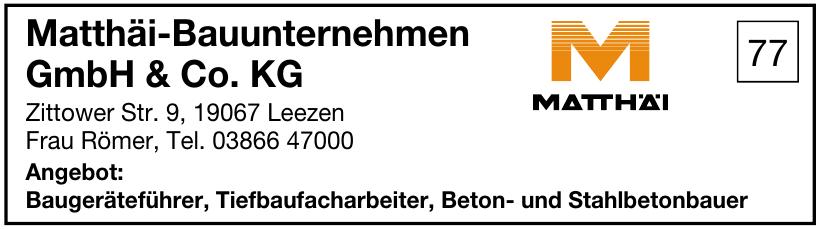 Matthäi-Bauunternehmen