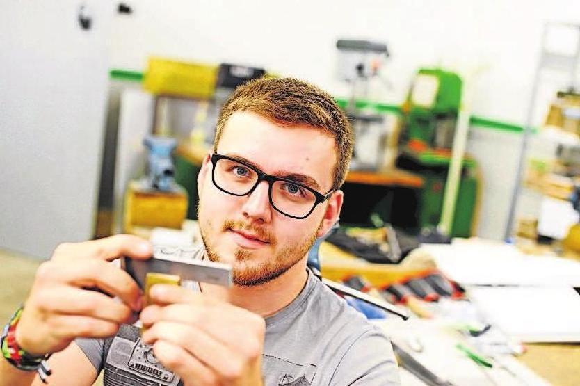 """Florian Kießling, Mechatroniker bei RAPA begann im Oktober sein """"Studium mit vertiefter Praxis"""" im Bereich Elektro- und Informationstechnik. RAPA"""