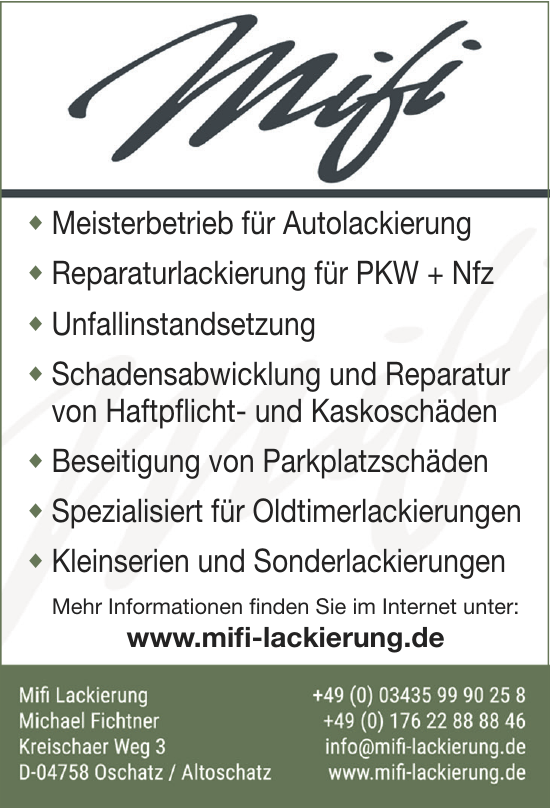 Mifi Lackierung