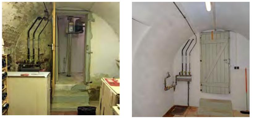 Vorher/nachher: Seitlich eindringende Feuchte setzte diesem Keller in Künzelsau zu. Eine Innenabdichtung schuf Abhilfe.