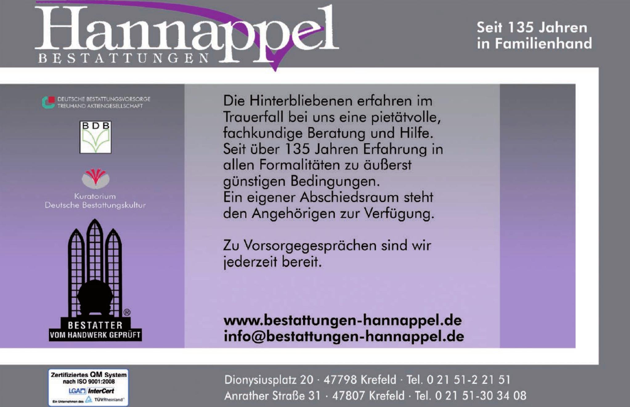 Hermann Hannappel & Sohn Bestattungen