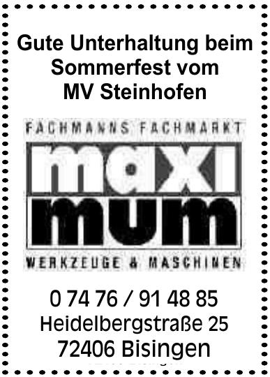 Maxi mum Werkzeuge + Maschinen