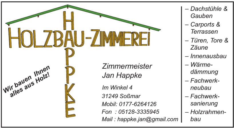 Holzbau-Zimmerei Happke