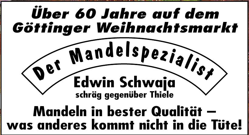 Der Mandelspezialist Edwin Schwaja