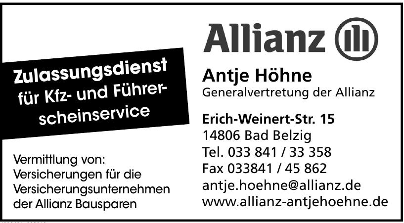 Antje Höhne Generalvertretung der Allianz