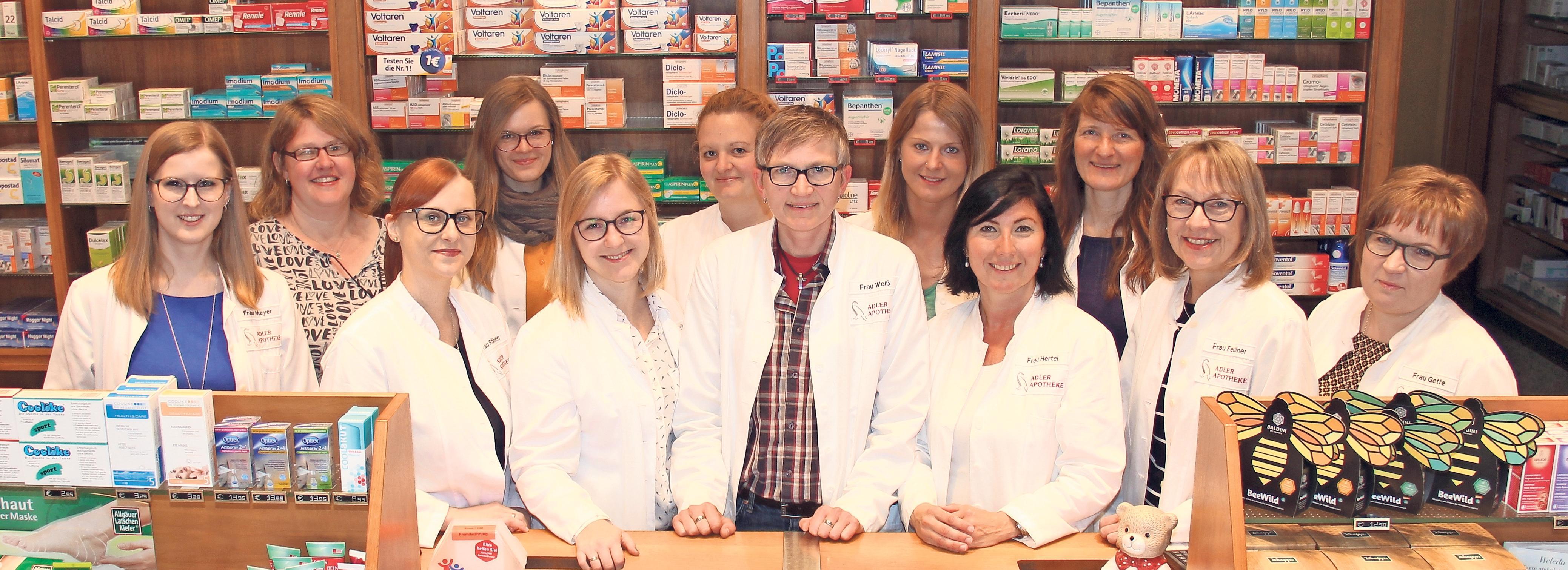 Hier stimmen Beratung, Freundlichkeit und Medikamentenverfügbarkeit: In allen Kategorien hat die Adler-Apotheke Platz eins belegt. Foto: Thomas Kenger