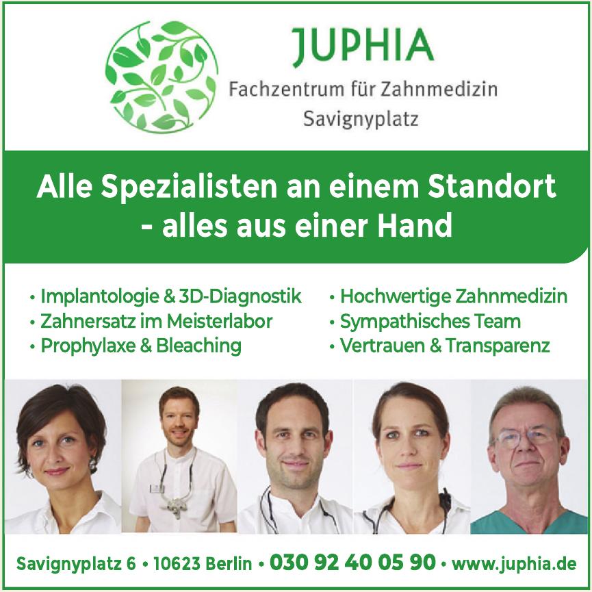 Juphia - Fachzentrum für Zahnmedizin Savignyplatz