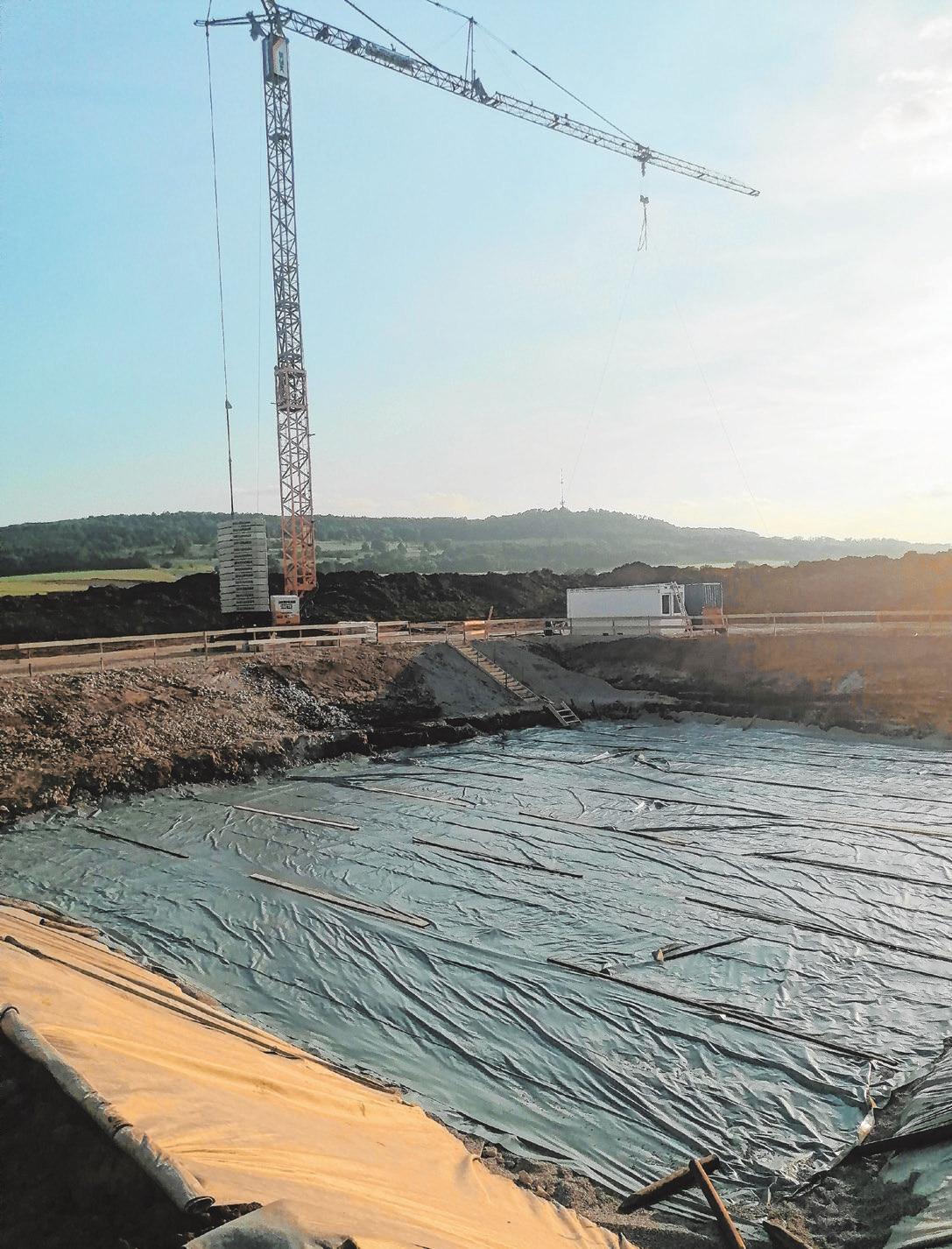 Der Kläranlagenneubau ist eines der begonnenen Großprojekte. Das Abwasser aus Beyerberg und Lentersheim wird künftig nach Ehingen gepumpt.