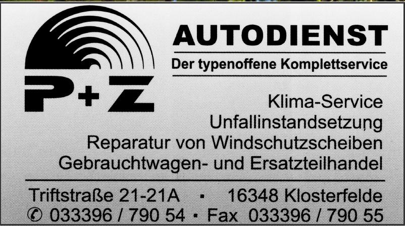 Autodienst P & Z