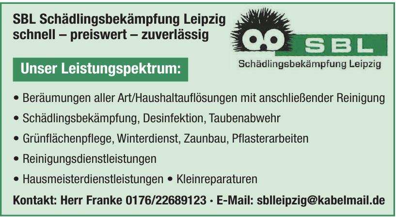 SBL Schädlingsbekämpfung Leipzig